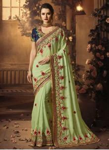 Sea Green Bridal Designer Traditional Saree