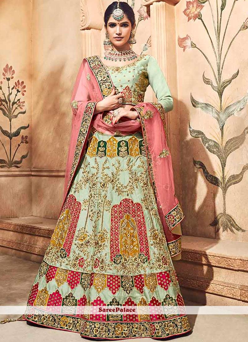 2ec705df9e Buy Sea Green Bridal Fancy Fabric Lehenga Choli Online