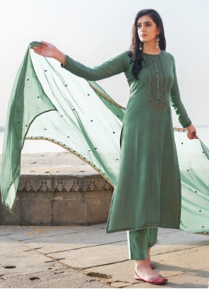 Sea Green Ceremonial Pant Style Suit