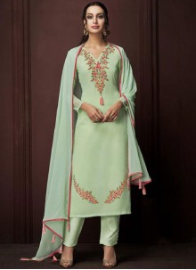 Sea Green Color Designer Pakistani Suit