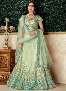 Sea Green Color Lehenga Choli