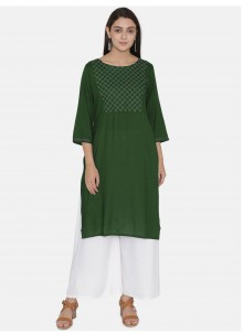 Green Color Party Wear Kurti