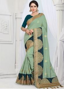 Sea Green Designer Saree