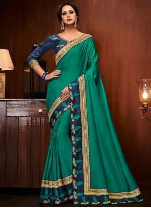 Sea Green Designer Traditional Saree