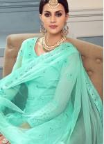 Sea Green Embroidered Festival Anarkali Salwar Kameez