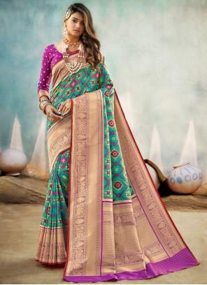 Sea Green Engagement Traditional Designer Saree
