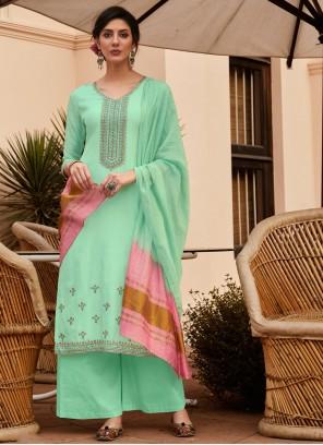Sea Green Festival Designer Palazzo Suit
