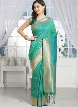 Sea Green Festival Silk Designer Traditional Saree