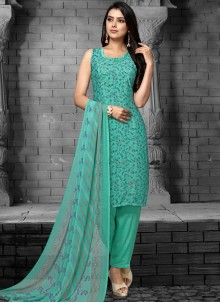 Sea Green Pakistani Salwar Kameez
