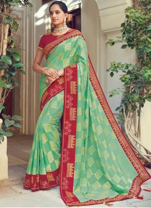 Sea Green Reception Traditional Designer Saree