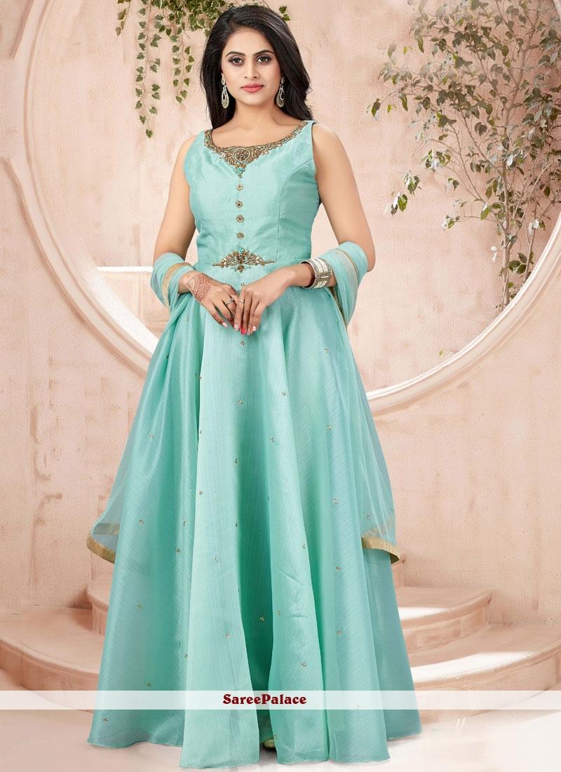 Sea Green Sangeet Designer Gown