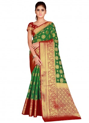 Sea Green Silk Bollywood Saree