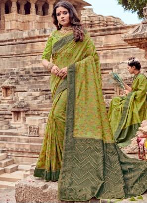 Sea Green Traditional Saree