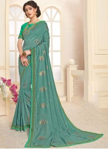 Sea Green Trendy Saree