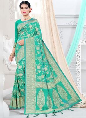 Sea Green Weaving Silk Designer Traditional Saree