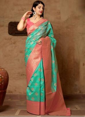 Sea Green Wedding Designer Traditional Saree