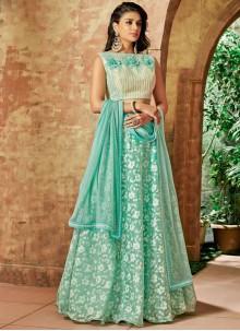 Sea Green Wedding Tissue Lehenga Choli