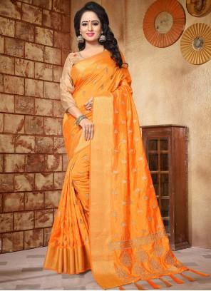 Sensible Art Silk Patch Border Work Traditional Designer Saree
