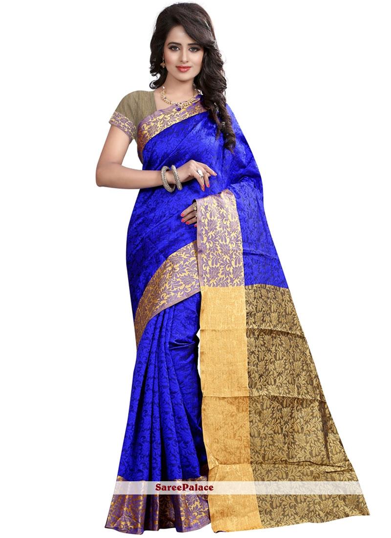 Sensible Weaving Work Cotton Silk Traditional  Saree