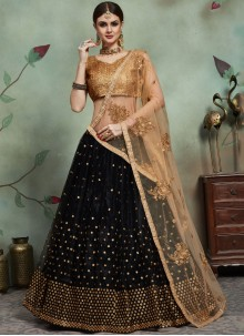 Sequins Black Trendy Lehenga Choli