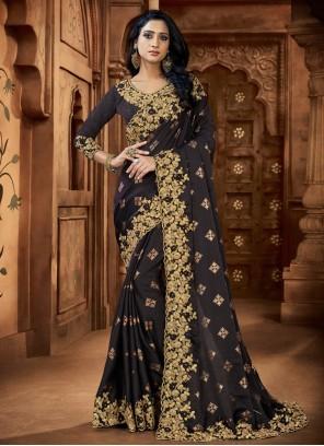 Black Sequins Classic Saree