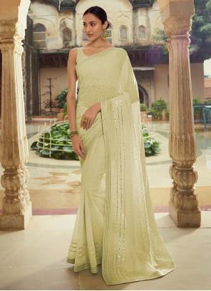 Sequins Green Classic Designer Saree