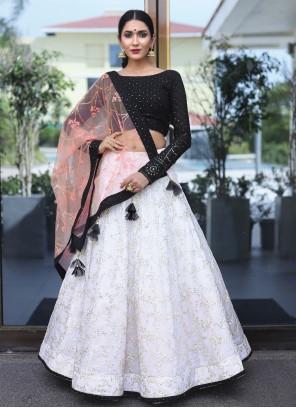 Black Sequins Readymade Lehenga Choli