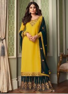 Shamita Shetty Faux Georgette Designer Palazzo Suit