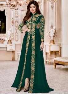 Shamita Shetty Green Pant Style Suit
