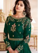 Shamita Shetty Malbari Silk  Zari Floor Length Anarkali Suit