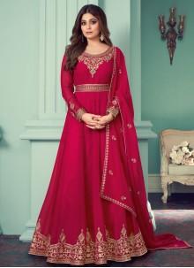 Shamita Shetty Pink Ceremonial Designer Suit
