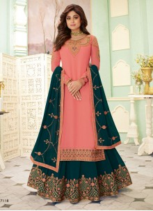 Shamita Shetty Pink Festival Palazzo Salwar Suit