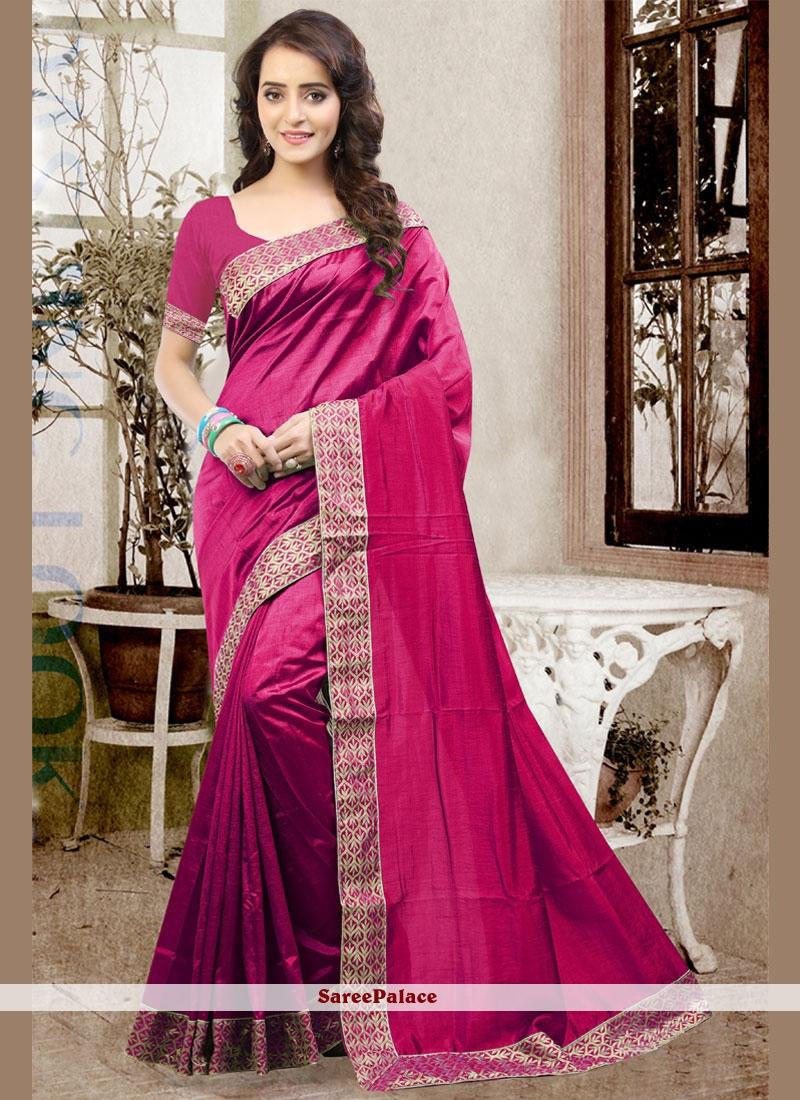 Sightly Magenta Art Silk Traditional  Saree