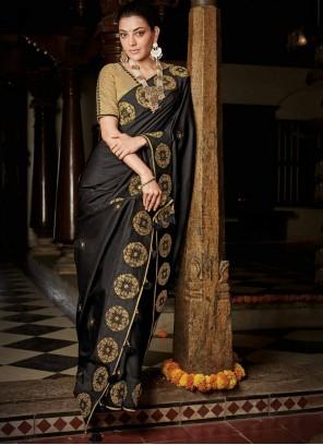 Silk Black Designer Saree