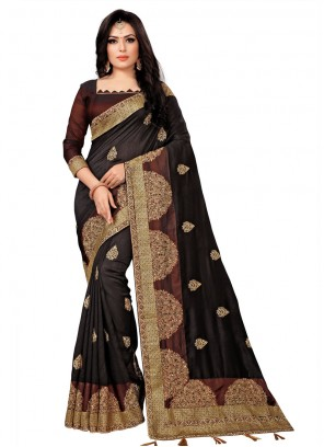Silk Black Traditional Saree