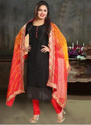 Silk Black Trendy Suit