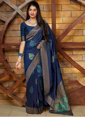 Silk Blue Saree