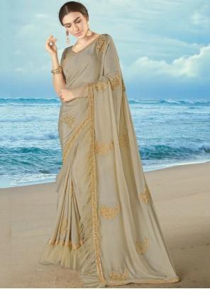 Grey Silk Bollywood Saree