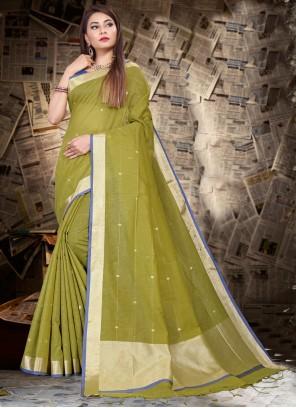 Silk Green Bollywood Saree