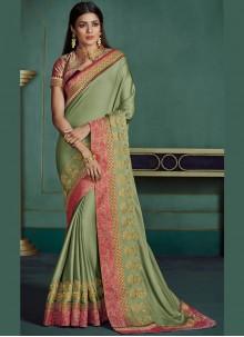 Silk Border Green Classic Saree