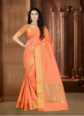 Silk Border Trendy Saree