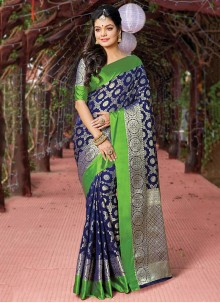 Silk Casual Saree in Blue