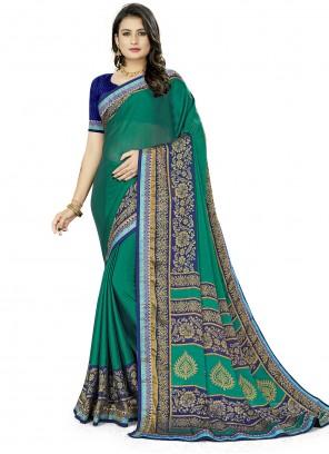 Silk Casual Saree in Multi Colour
