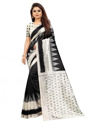 Silk Casual Black Traditional Saree