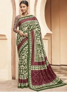 Silk Ceremonial Designer Multi Colour Traditional Saree