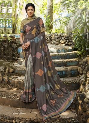 Silk Ceremonial Printed Saree
