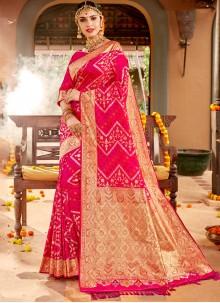 Silk Classic Designer Saree in Pink