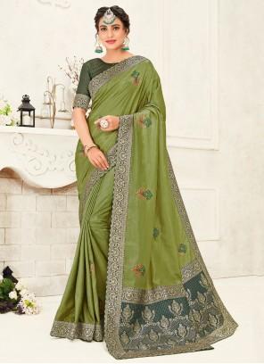 Silk Classic Green Saree