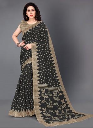 Silk Black Classic Saree