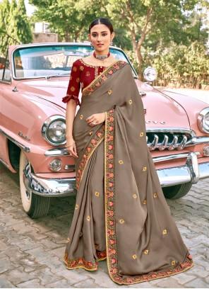 Silk Grey Classic Saree